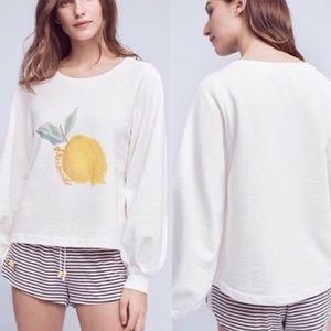Anthro Saturday Sunday Lemonade Sweatshirt